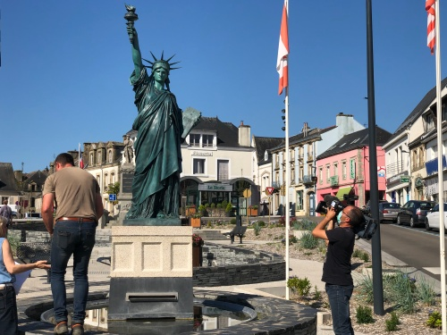 Liberty statue in Gourin (Brittany - France)